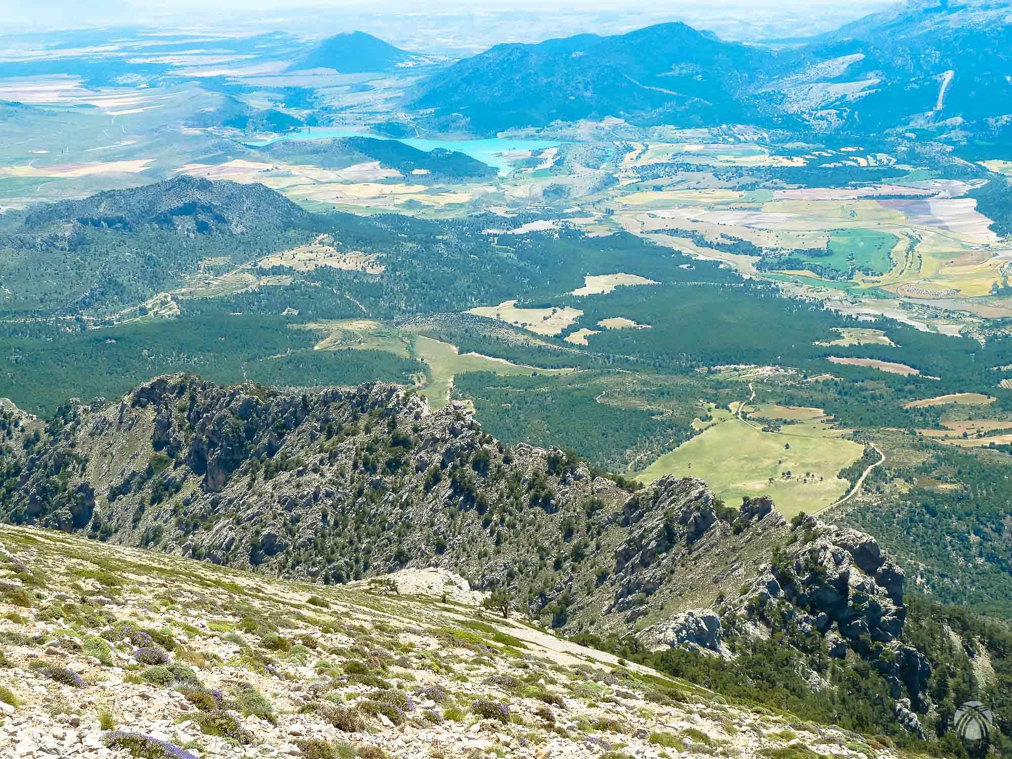 La cresta sur vista desde arriba