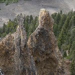 Spires along Bunsen Peak Trail