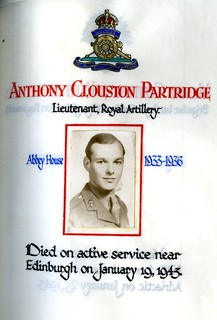 Partridge, Anthony Clouston (1919-1943) | by sherborneschoolarchives