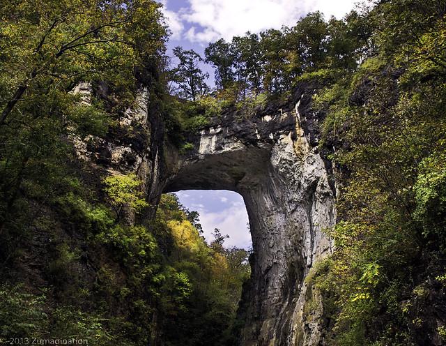 The Natural Bridge Early Fall