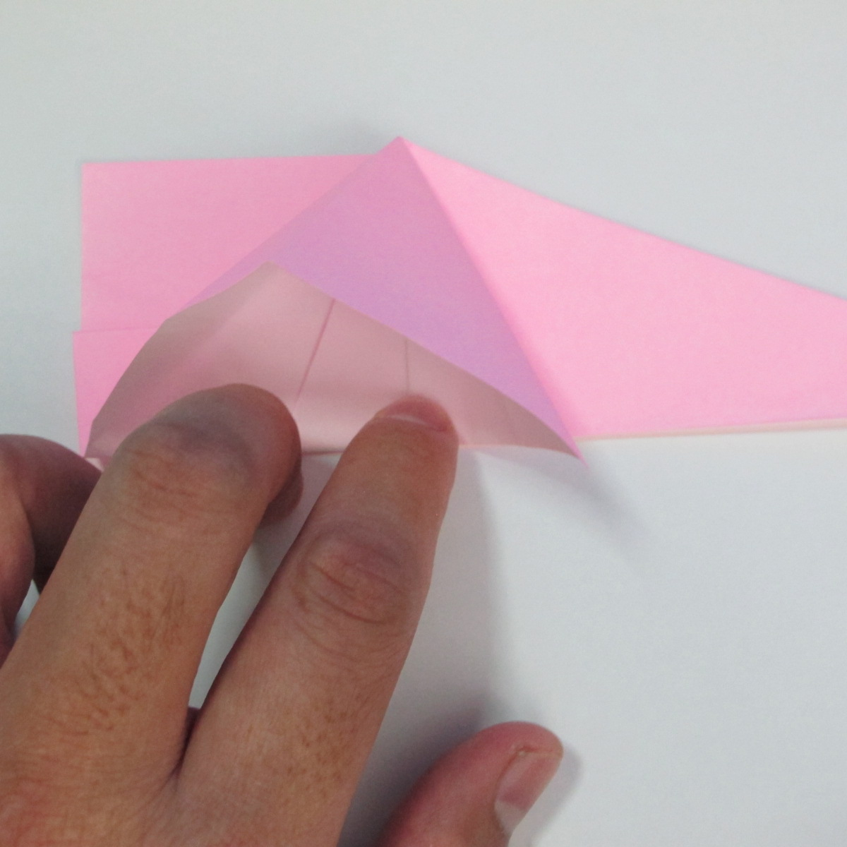 สอนการพับกระดาษเป็นลูกสุนัขชเนาเซอร์ (Origami Schnauzer Puppy) 037