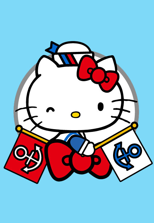 833b82ee1 Hello Kitty in sailor costume with nautical flags | Jay Tilston | Flickr
