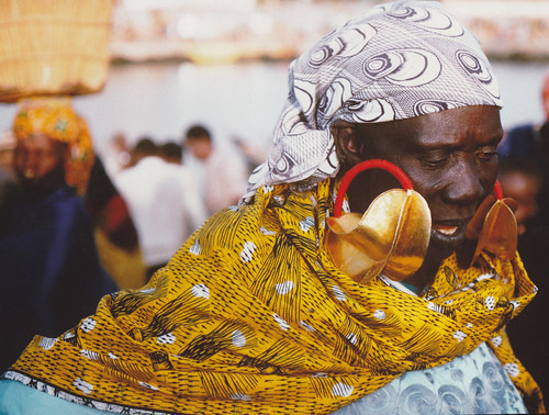 Gold earring worn by market woman in Djenne, Mali | by RAS News & Events