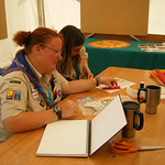 Dawn & Emma Making Prayer Flags