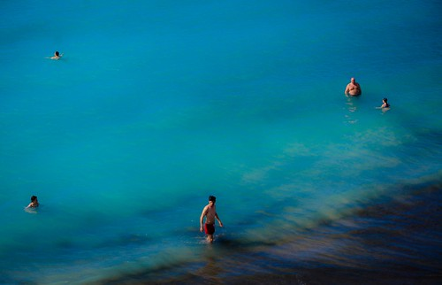 Swimming in the middle of winter at the black volcano beach of Tenerife | by bendixdm