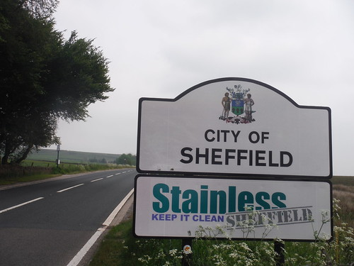 End of Alternative Ending: City of Sheffield Sign and Moscar Lodge Bus Stop SWC Walk 266 - Sheffield to Bamford (via Burbage Rocks and Stanage Edge) or to Moscar Lodge [Moscar Lodge Ending]