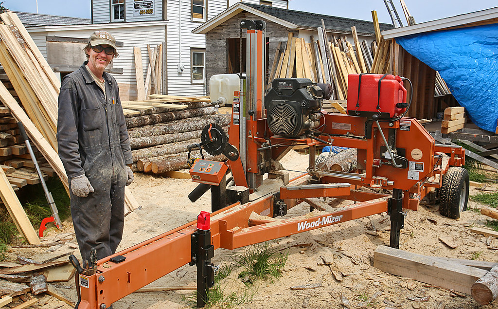 Backyard Sawmill | A resident of Trinity Newfoundland runs a
