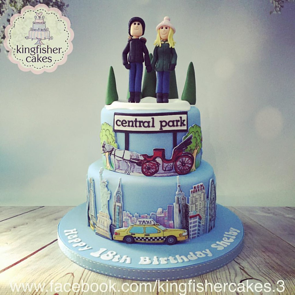 Awesome One From A While Ago A New York Themed 18Th Birthday Cake Flickr Funny Birthday Cards Online Elaedamsfinfo