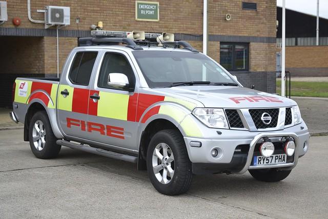RY57 PHA Nissan Navara GPV TAG Farnborough Airport Rescue & Firefighting Service