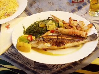 Lunch in Piran, Slovenia