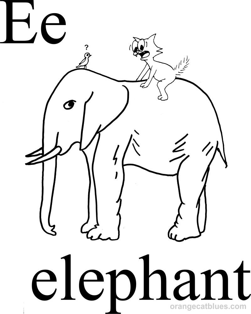e elephant coloring pages - photo#11