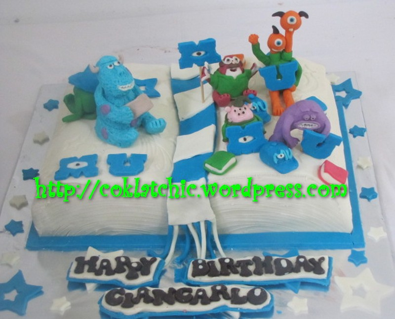 Fine Cake Monster University Niken I Dh Flickr Personalised Birthday Cards Epsylily Jamesorg