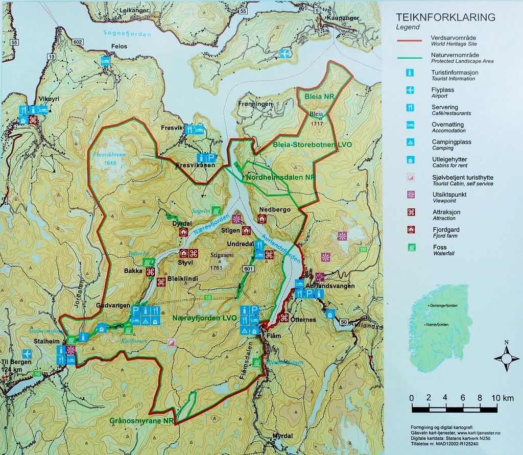 West Norwegian Fjords World Heritage Site Map Zug55 Flickr