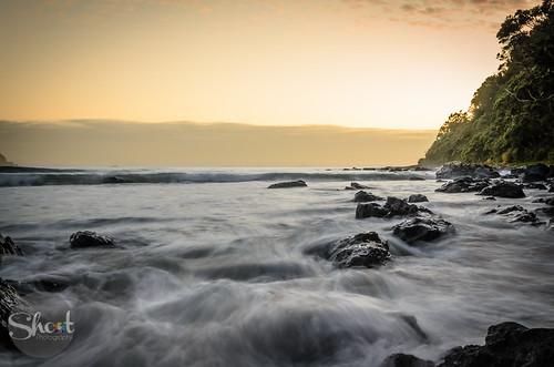 longexposure newzealand sky water sunrise rocks outdoor tripod waikato pauanui d5100 copyrighttimmorris