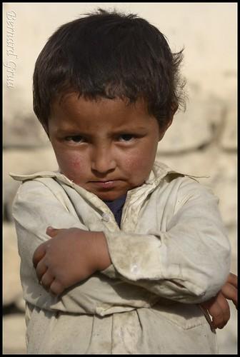 Kiamadin*,  young Wakhi boy  Qala e Panja © Bernard Grua
