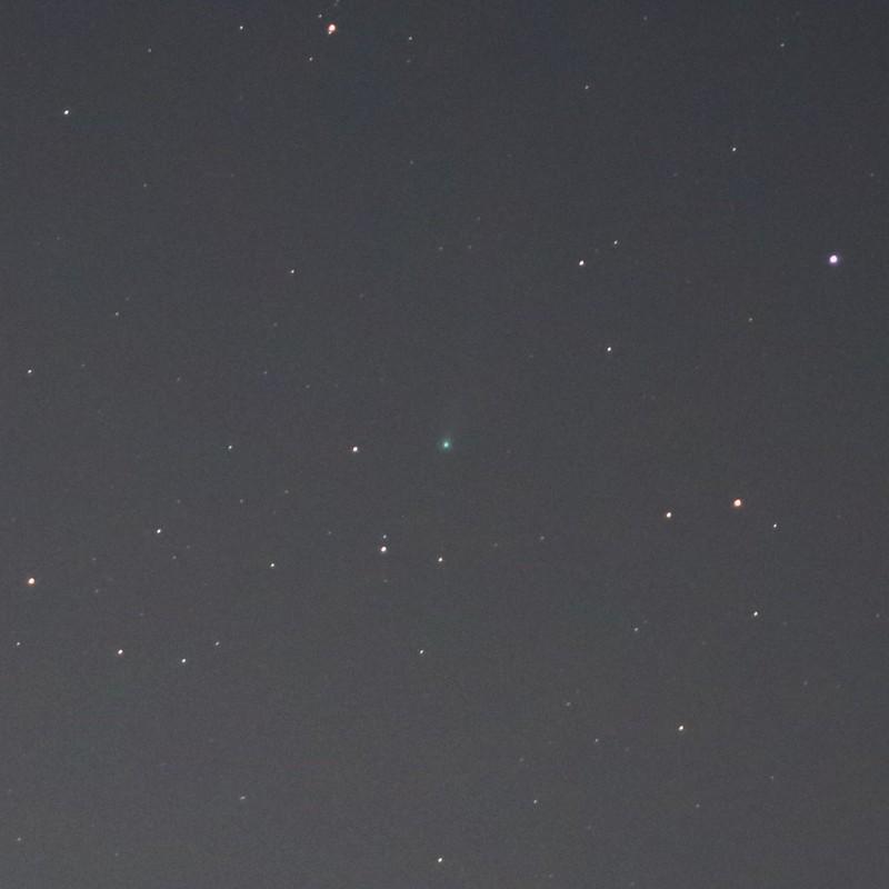 アイソン彗星 (2013/11/14 05:03-05:05)(8枚コンポジット)(拡大)