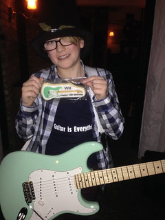 Surf green Stratocaster and matching biscuit