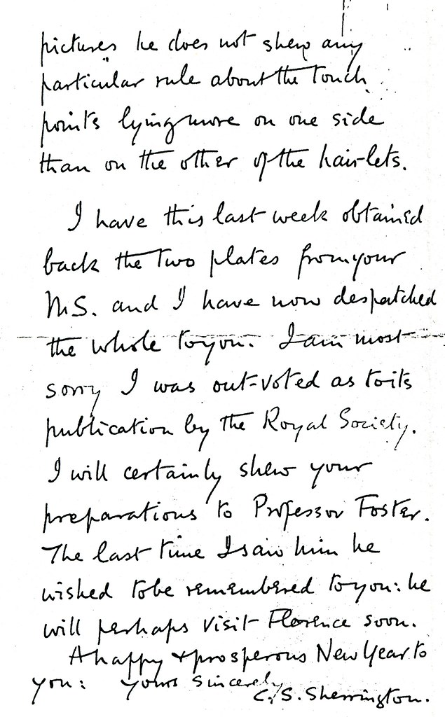 Sherrington to Ruffini - 9 January 1898 (WCG 48.5) 4/4
