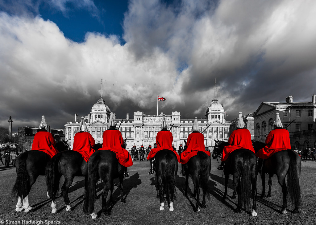 Changing The Guard - Horse Guards Parade London by Simon H