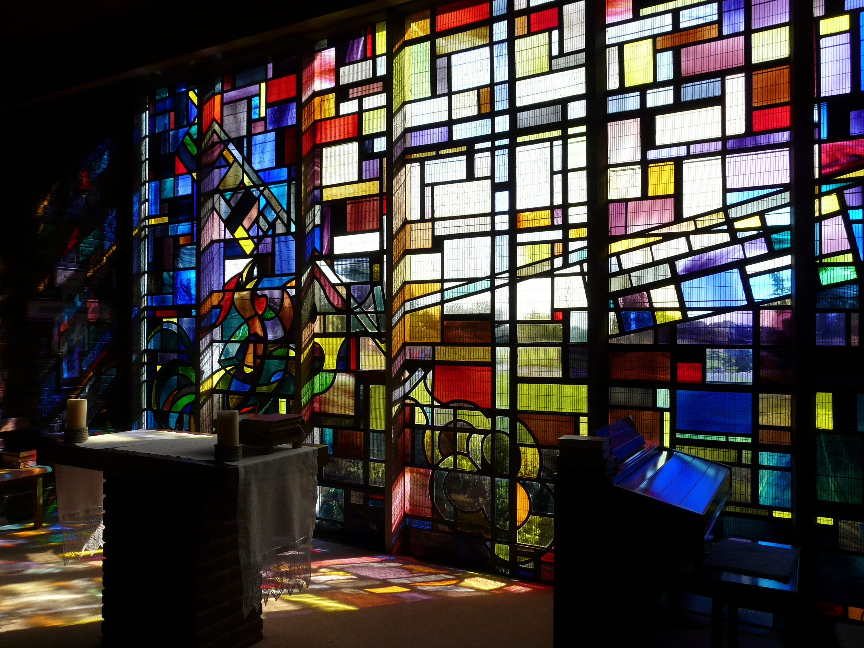 36. Marvel at stained glass