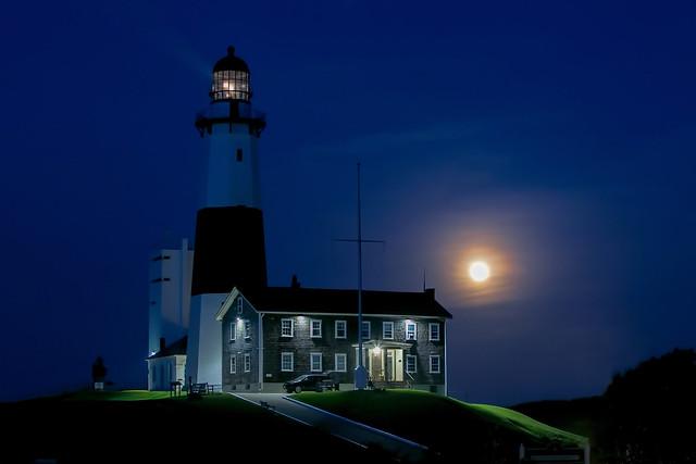 Night Falls on Montauk Point