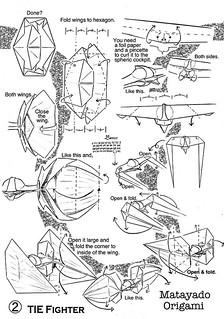 TIE Fighter origami diagram 2 | by Matayado-titi