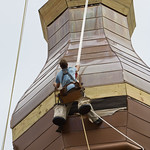 Saint Mary's gets a new steeple.