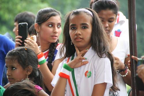 Girls celebrating Independence Day