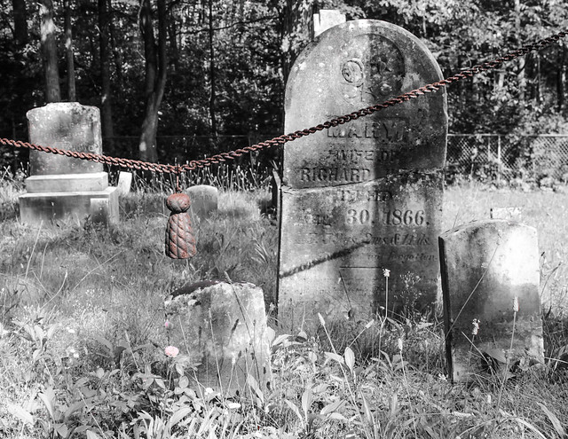 Gravestones and iron tassle