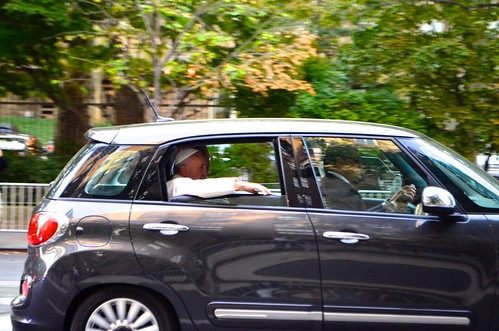 Pope Francis in his Fiat | by DOTCALM9