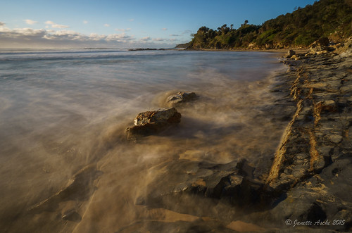 ocean longexposure morning sea seascape beach clouds landscape coast sand rocks waves australia coastal le nsw newsouthwales hightide 2015 yuraygirnationalpark diggerscamp sonya7r
