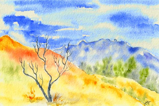 Australian Landscape - Watercolour