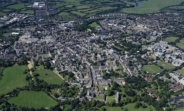 Oxford viewed from the air