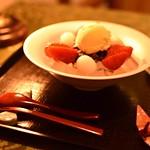 いちごクリームあんみつ٩(๑❛ᴗ❛๑)۶ #神宮前茶寮こう#いちごクリームあんみつ#和スイーツ#sapporo#北海道神宮前#hokkaido #sweets