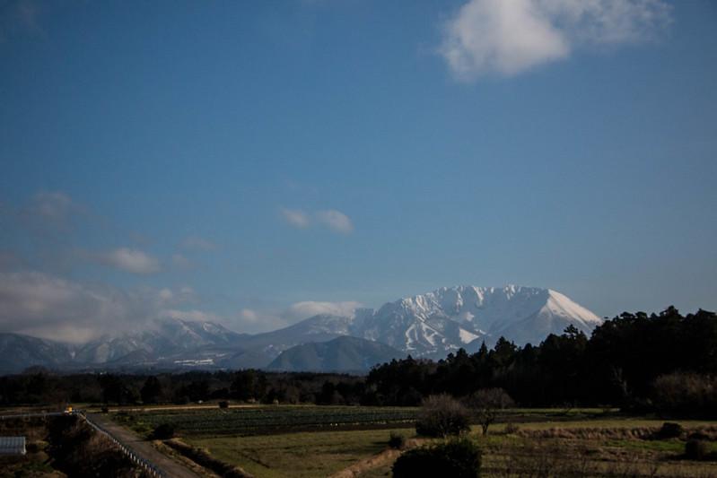 伯耆大山を見る
