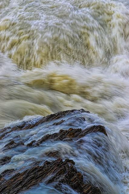 River near natural bridge, Yoho National Park, BC