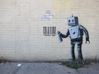 Banksy NYC, Coney Island, Robot | by Scoboco