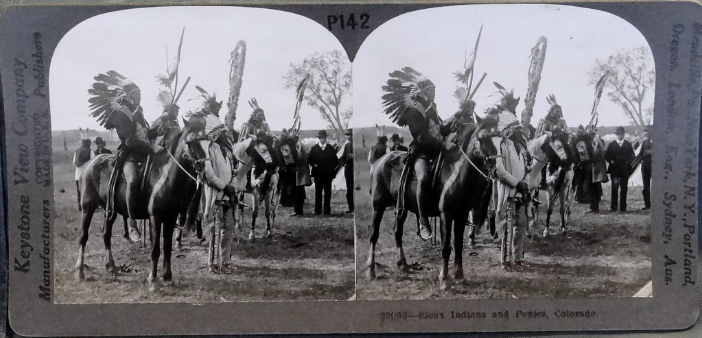 Sioux Indians and Ponies in Colorado (Early 1900s) | Flickr