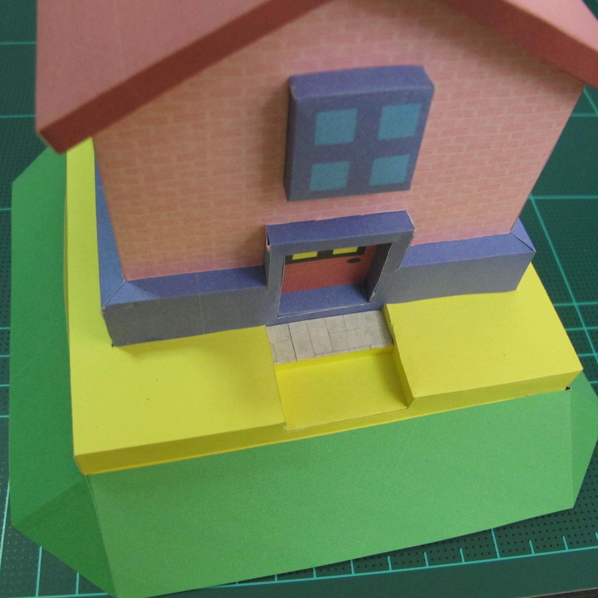 วิธีทำโมเดลกระดาษเป็นรูปบ้าน (Little House Papercraft Model) 016