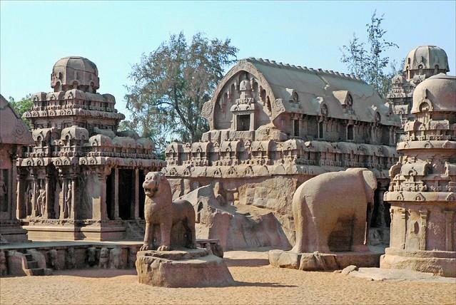 Les temples monolithes (Mahabalipuram, Inde)