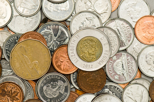 Stock Photography - Canadian Coins | by Katherine Ridgley