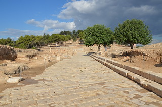 View of the Decumanus which functioned as the main artery by which one entered the city from the east, Sepphoris (Diocaesarea), Israel