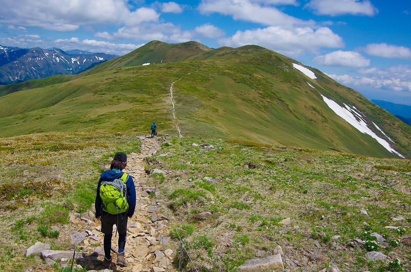 仙ノ倉山に続く稜線