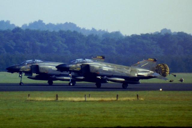 F-4D 66-7714 128th TFS/ 116th TFW Georgia Air-National-Guard/ ANG. Soesterberg Air-Base, Netherlands. 28-08-1985.