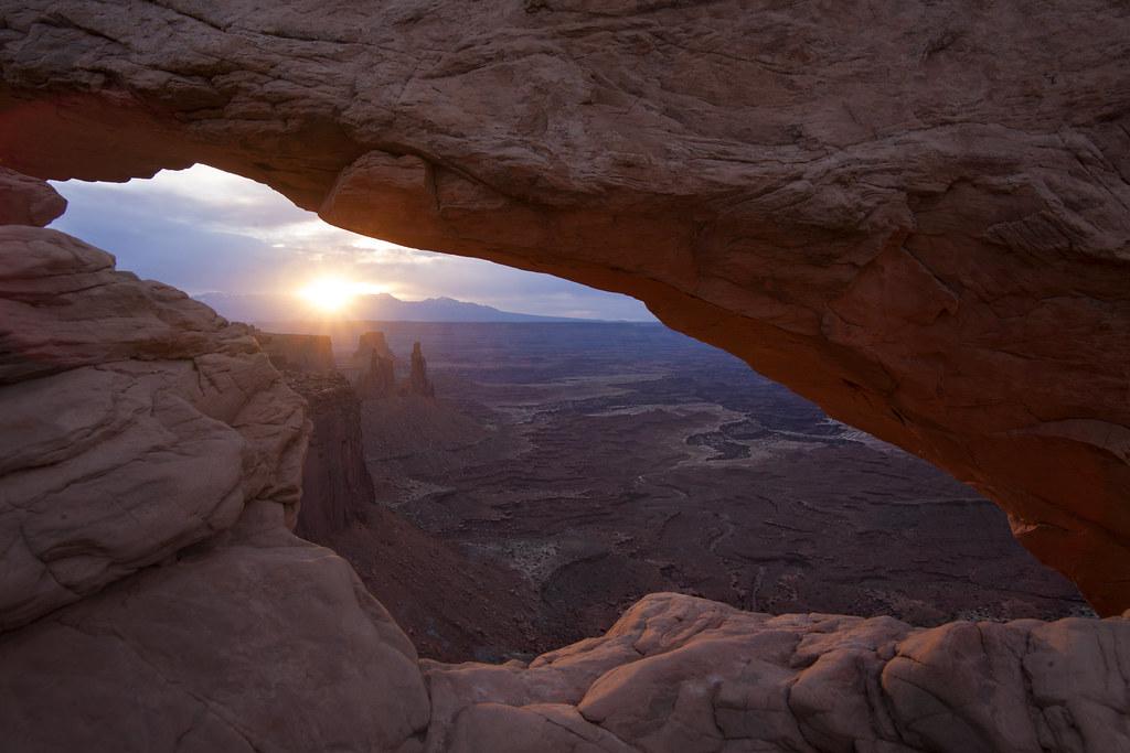 Mesa Arch Sunrise Sunburst   A southwest cliche -er, I