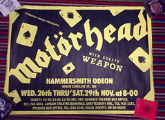 Motörhead Ace Up Your Sleeve tour poster 1980