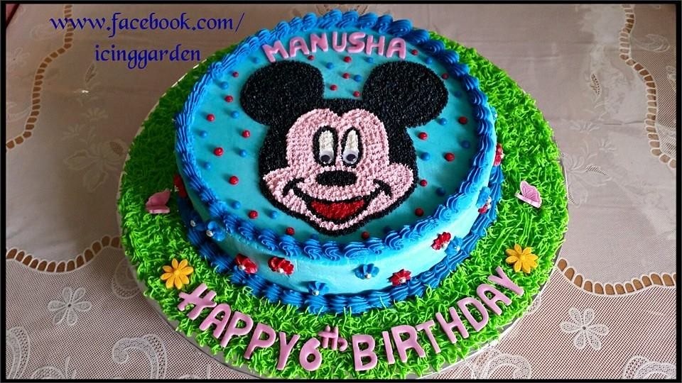 Miraculous Birthday Cakes Icing Cake 6Th Birthday Cake Mickey M Flickr Personalised Birthday Cards Xaembasilily Jamesorg