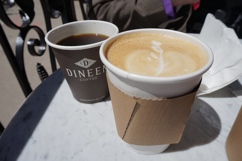 Dineen Coffee Co latte and coffee