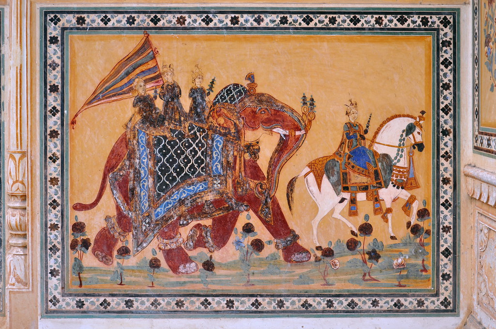 India Rajasthan Jaipur Nahagarh Fort Wall Painting Flickr