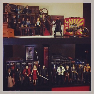 Whedon bookcase (well, the top half anyway). My friend says one day I will run a @jossWhedon library #jossisboss #toys #dreamjob | by orangerful